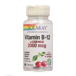 madre selva cosmetics-vitamina b12 90 caps-solaray-madre selva cosmetics