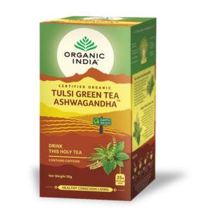 Tulsi Green Tea Ashwagandha - ORGANIC INDIA